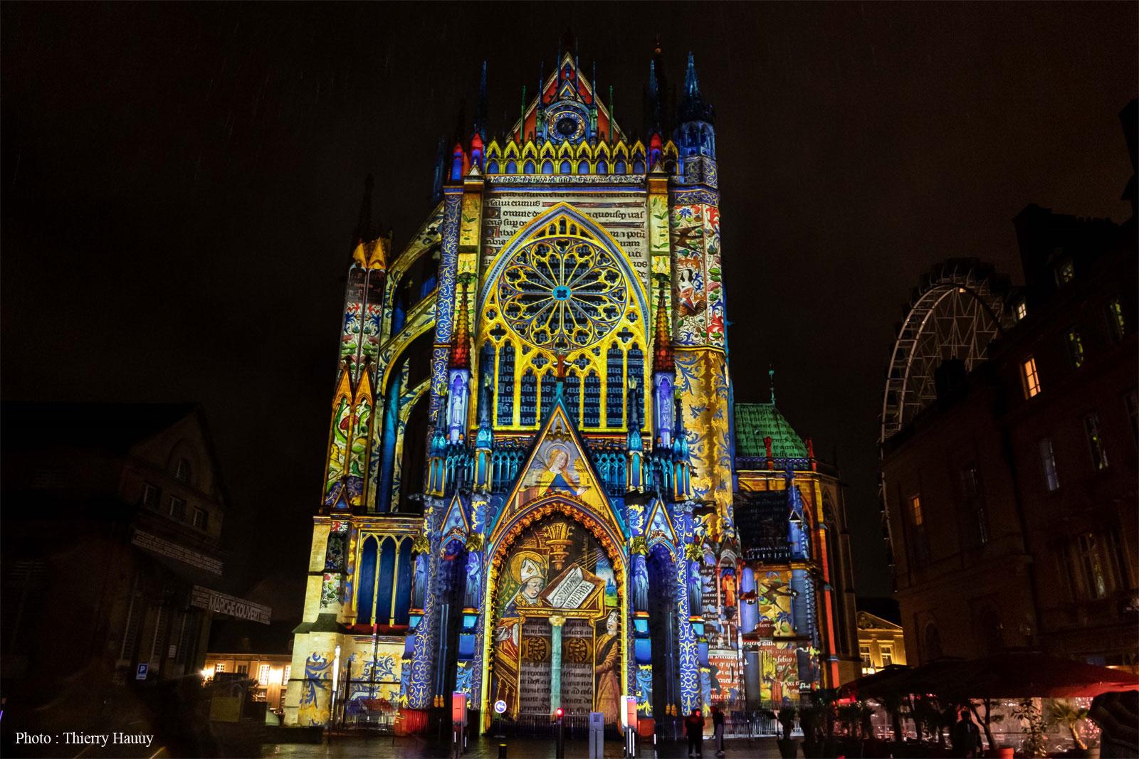 Vidéo mapping hiver 800 ans cathédrale de Metz - Tout-Metz
