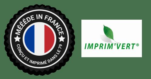 Logo made in france et imprim'vert