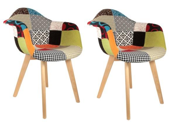 fauteuil-scandinave-patchwork-colore