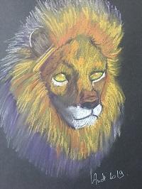 Comment faire un tête de lion en 4 étapes.