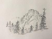 Comment dessiner un paysage de montagne avec différentes techniques