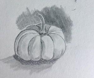 Comment dessiner une citrouille en moins de 10 mn