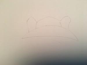 la forme générale du chapeau et ses oreilles