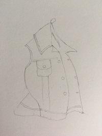 Dessin réaliste des éléments généraux de la veste.