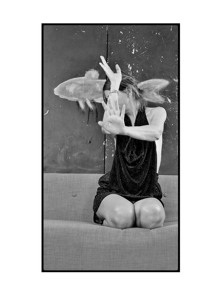Photographie modèle nb sirène par Anna Yurienen Gallego artiste photographe