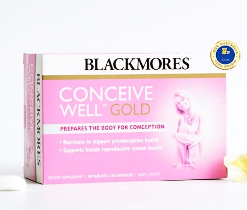 Thuốc hỗ trợ thụ thai Conceive Well Gold Blackmores cho nữ