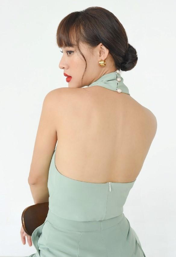 Thời trang nữ Áo cổ chéo Mango (màu mới)