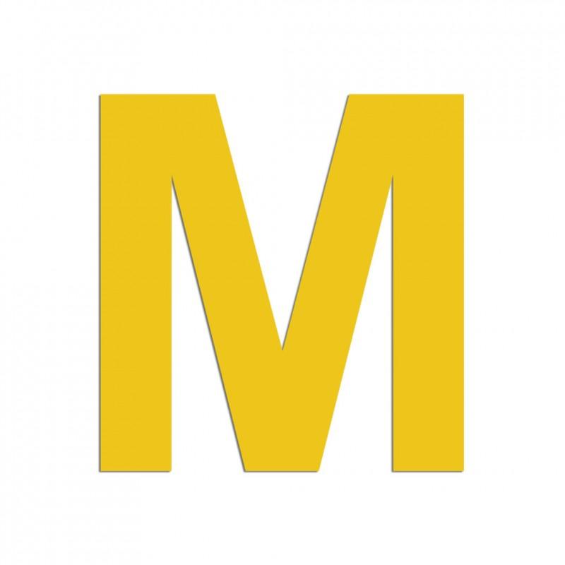 Lettre M En Aluminium Découpé 100 Ou 150mm De Haut