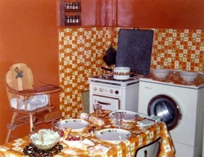 cuisine orange années 70