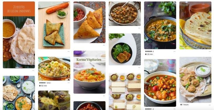 recettes indiennes sur Pinterest pour stimuler appétit