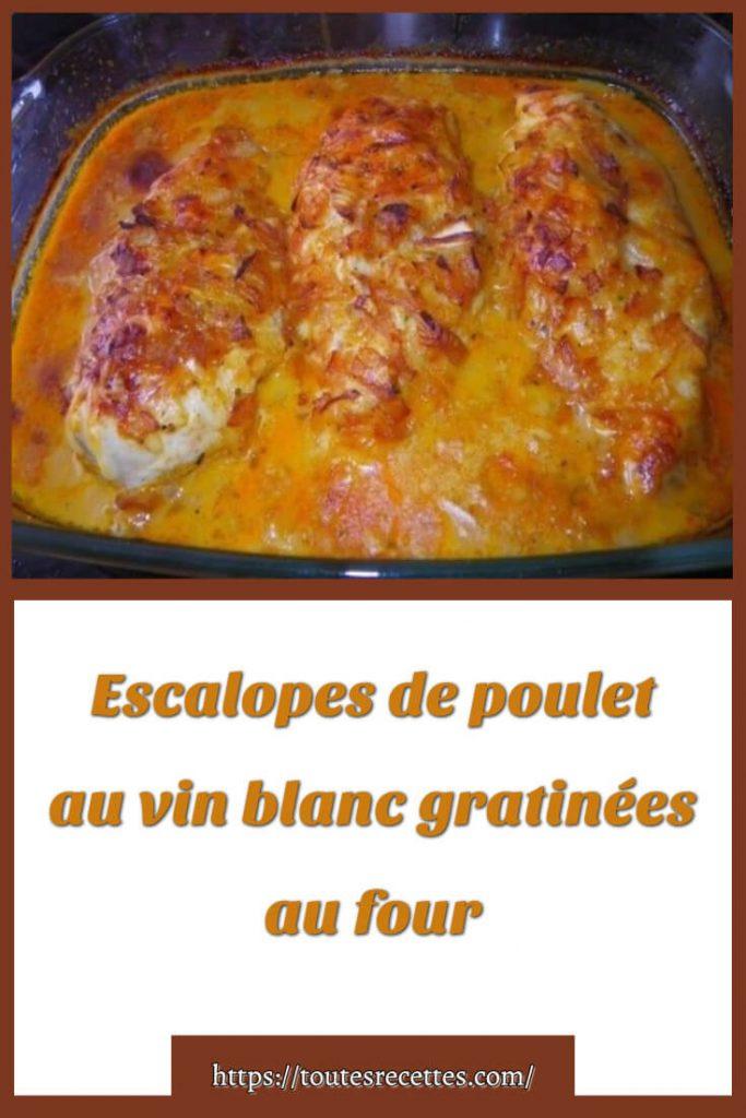 Blanc De Poulet Gratiné Au Four : blanc, poulet, gratiné, Escalopes, Poulet, Blanc, Gratinées, Toutes, Recettes