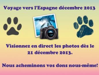 Voyage vers l'Espagne – décembre 2013
