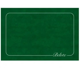 tapis de cartes belote classique 40 x 60 cm vert