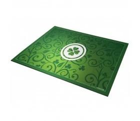 tapis de cartes chance trefle 40 x 60 cm vert