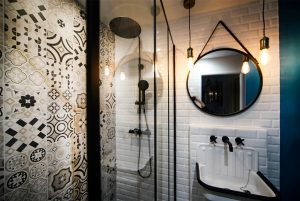 4 Salle De Bain Style Industriel Carreaux De Ciment Miroir Rond Tout Simplement Deco