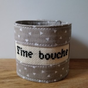"""Broderie """"Fine bouche"""""""