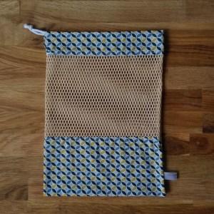 Emballages - Sacs à vrac - Géométrie / Bleu et jaune