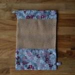 Emballages - Sacs à vrac - Fleurs de cerisiers / rose sur fond gris