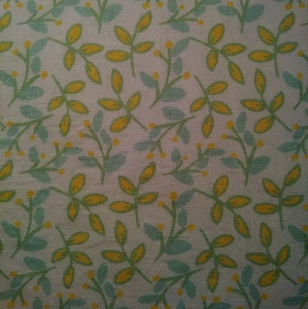 essuie tout lavables branches jaune menthe blanc