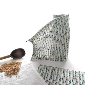 Art de la table - Essuie-tout lavables - Feuillages - Vert Ambre