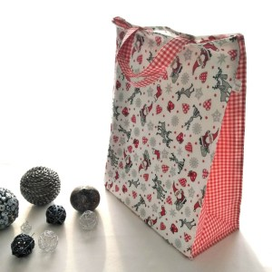 Emballages - Sacs Cadeaux - Père Noël - Rouge Blanc