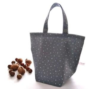 Emballages - Sacs Cadeaux - Pois - Gris Vert Menthe