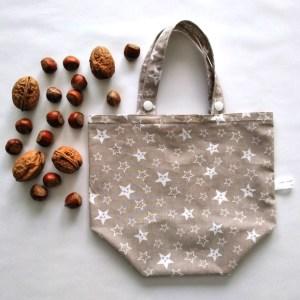 Emballages - Sacs Cadeaux - Etoiles - Blanc Beige