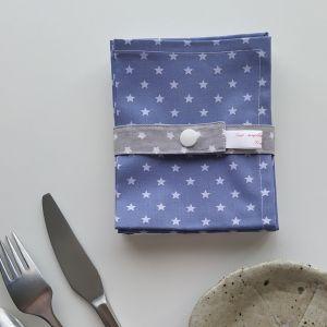 Art de la Table - Serviettes de Table - Étoiles - Bleu Blanc