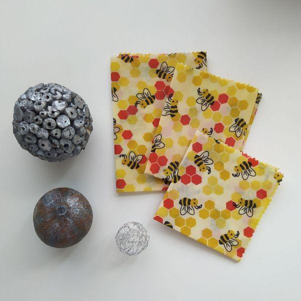 Emballages Alimentaires - Bee Wraps - Alvéoles & Abeilles