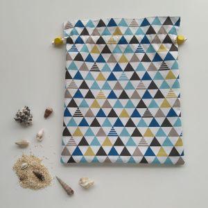 Sac Pochon – Triangles et Formes Géométriques