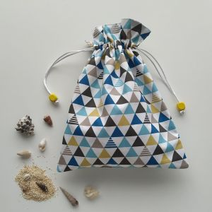 Sacs en Tissu - Sacs Pochons - Triangles et Formes Géométriques