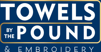 NEW LOGO Towels by the pound White_Blue