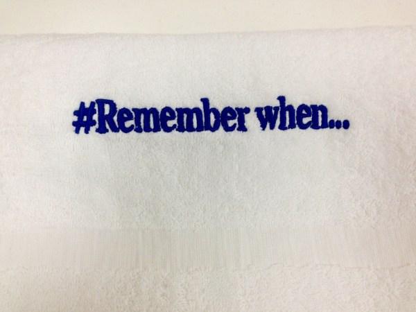 Custom Embroidered Towel