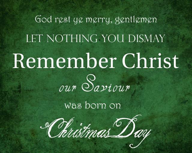 God Rest Ye Merry Gentlemen
