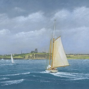 036-Sailing off Tynemouth