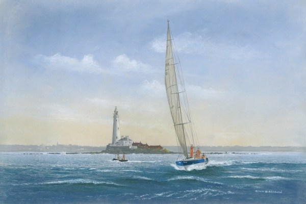 038-Sailing off St Mary's Lighthouse