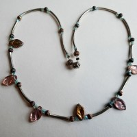 Meryl Lusher Rose leaf necklace