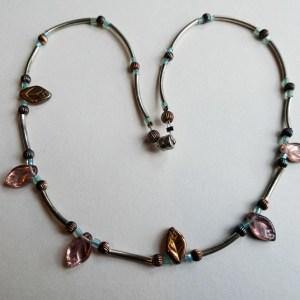Meryl Lusher Rose leaf necklace