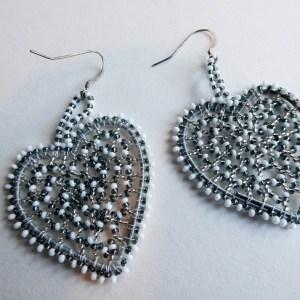 Meryl Lusher heart earrings