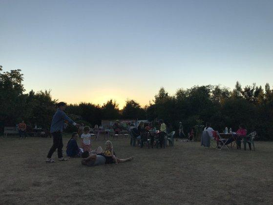 Campsite festival vibe