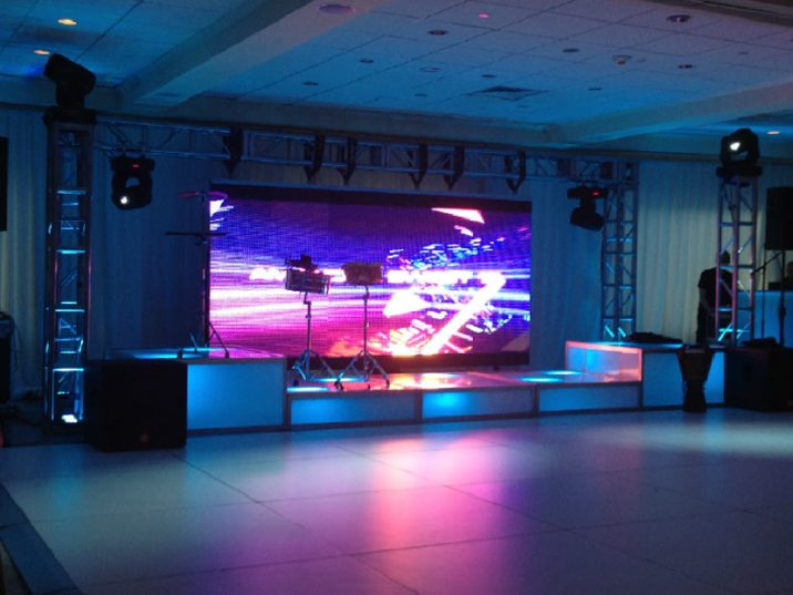 Giant-video-screen-for-mitzvah-event