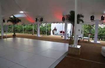 White Portable Dance Floor Rental