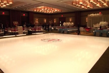 Hi-gloss-winter-white-dance-floor-with-sticker