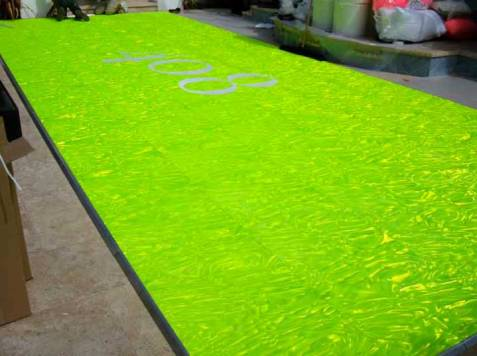 Lime-Green-Holographic-Dance-Floor