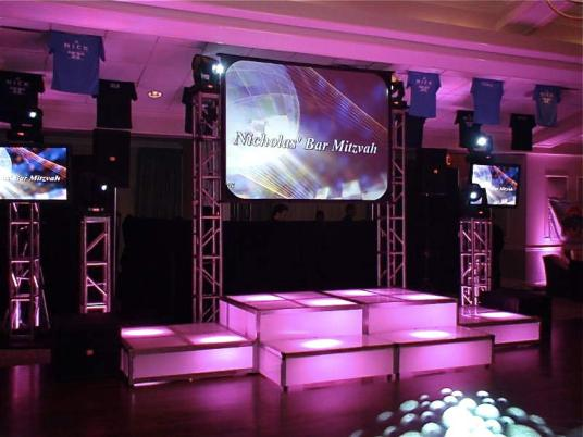 led stage decks and video projection