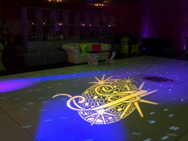 gobo on dance floor