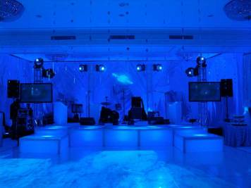 LED stage decks, dance floor lighting