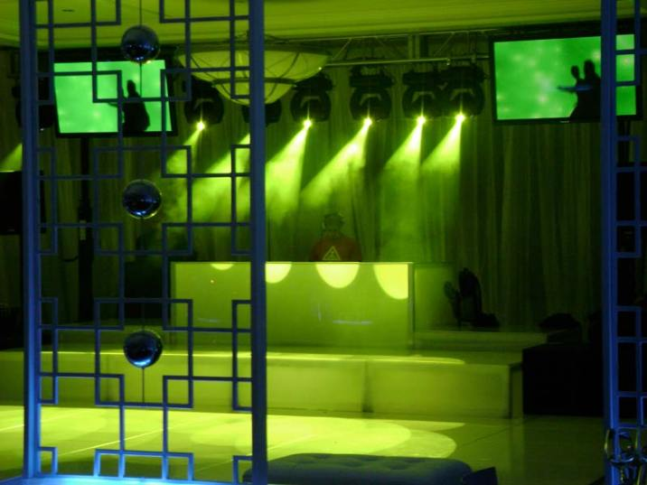 DJ booth staging