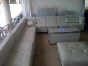 white lounge decor