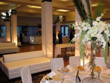 white event lounge decor